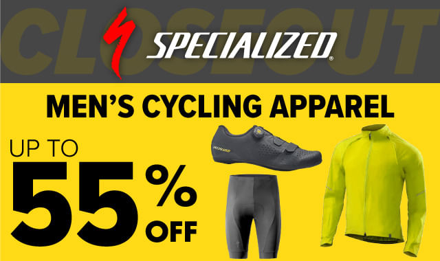 Save on Specialized Mens Cycling Apparel during ERIK'S 5 Days of Deals!