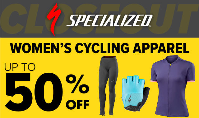 Save on Specialized Womens Cycling Apparel during ERIK'S 5 Days of Deals!